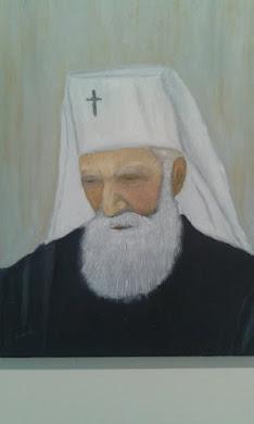 patrijarh Pavle umetnička slika, ulje na platnu 40cm x 50cm dostupna(cena 80 e-neuramljena)