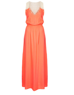 tangerine dress, coral, spring, dress, maxi dress, casual dress, long dress