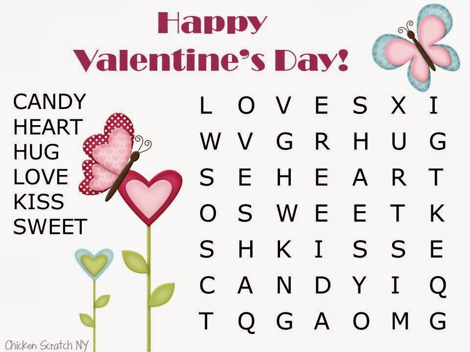 Valentine Word Search easy 1