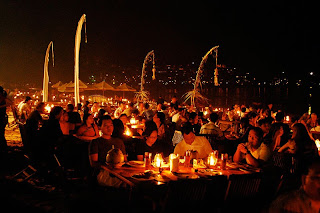 Romantic dinner at Jimbaran Beach, sunset Jimbaran beach, kedonganan, jimbaran seafood