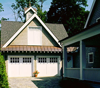 High street market carriage house inspiration for Garage overhang