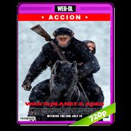 El planeta de los simios: La guerra (2017) WEB-DL 720p Audio Dual Latino-Ingles