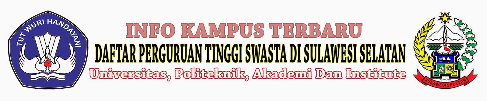 Daftar Perguruan Tinggi Swasta Di Sulawesi Selatan