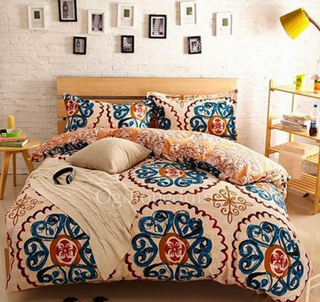 http://www.ogotobedding.com/beige-and-blue-patterned-pretty-unique-comforter-sets-p-1461.html#.VMzMz2iUe7k