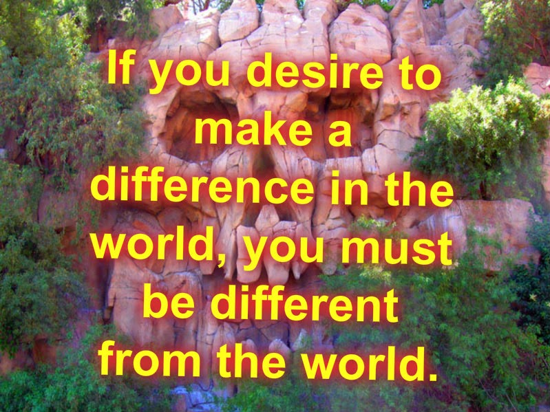Difference from the world