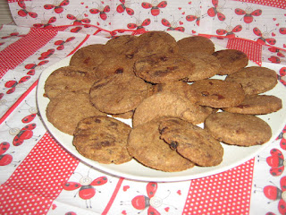 Wholemeal Cookies with Chocolate and Raisins