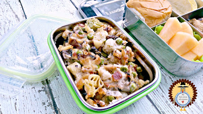 My Epicurean Adventures: Lunch Box Fun 2015-16: Week #16 - Turkey Tetrazzini Lunch. Lunch box ideas, school lunch ideas, lunches