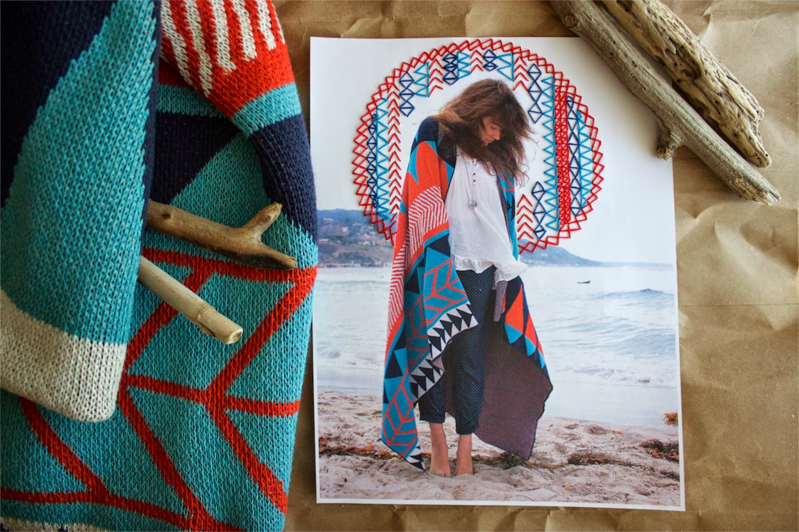 The one thing that makes my bohemian style blog outstanding - hand embroidered photographs