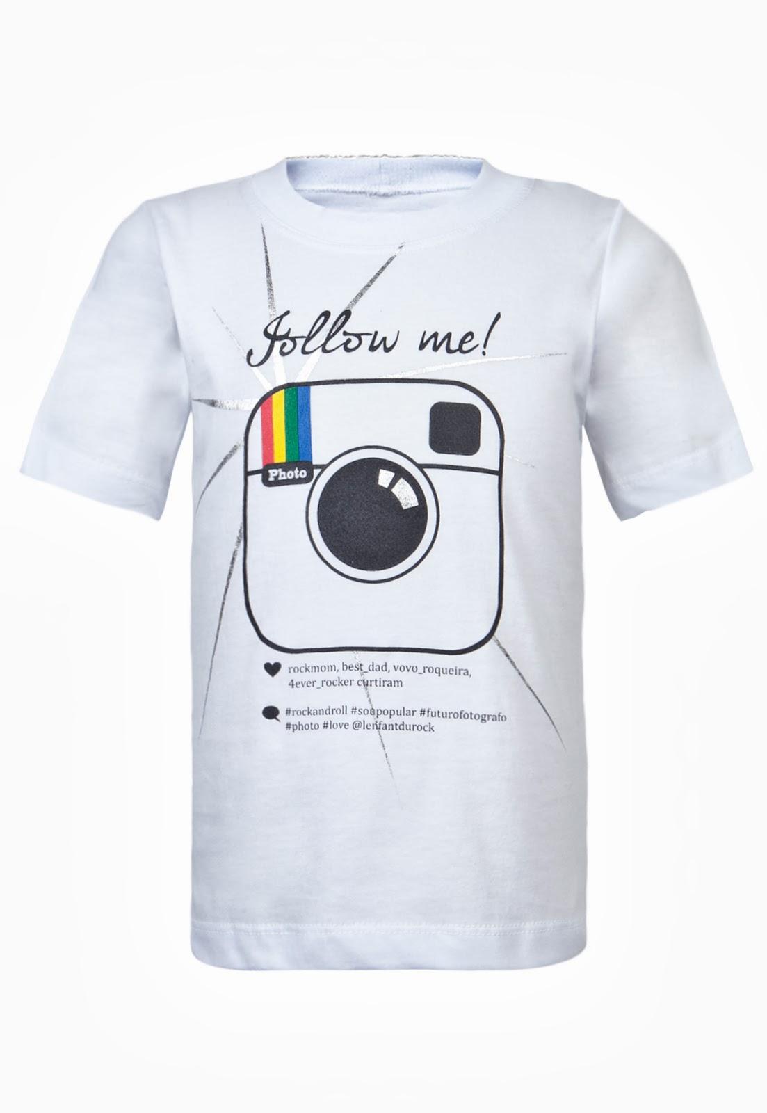 Camisetas rede social promoção