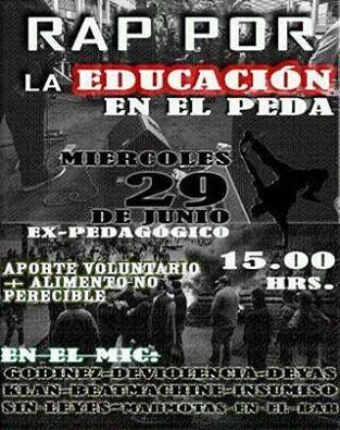 MACUL: RAP POR LA EDUCACIÓN EN EL PEDA