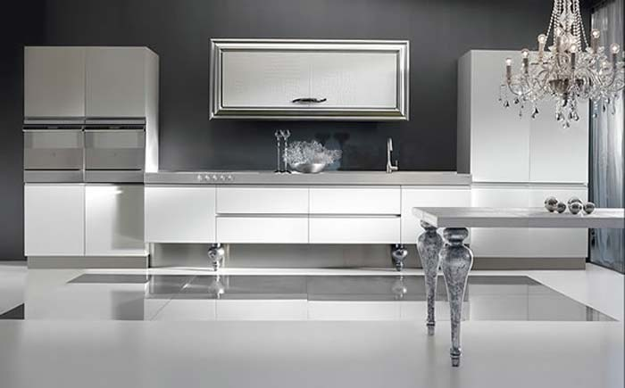 Modern kitchen design ideas sink cabinet by must italia for Modern kitchen white cabinets