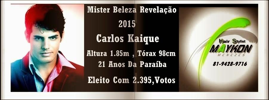 Mister Beleza Revelação 2015 Carlos Kaique