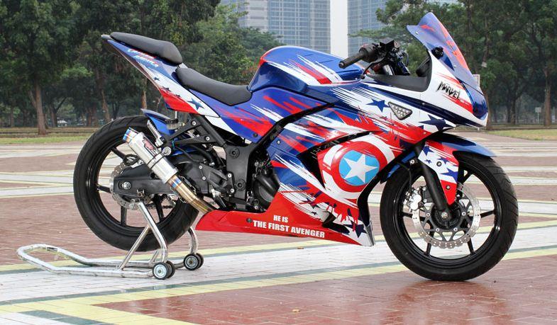 contoh modifikasi motor sporty