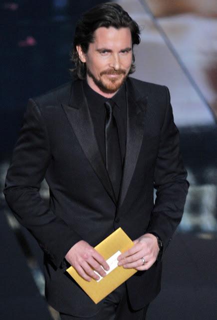 Look Christian Bale Oscar 2012