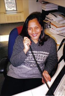 Sita Nermalla Sewnarine sat at her desk in the WTC