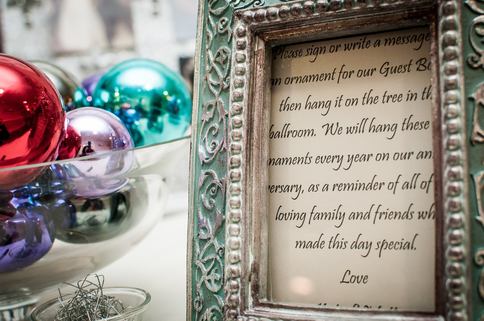 wedding guestbook Christmas