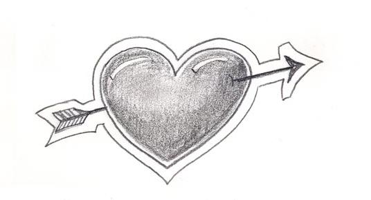Kalp Karakalem çizimleri Karakalem çizimleri Karakalem Anime