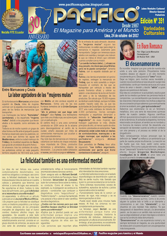 Revista Pacífico Nº 351 Variedades Culturales