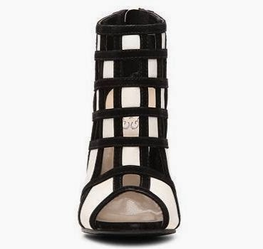 black and white geometric color blocked shootie
