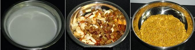 fried moong dal and dry fruits