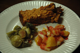 Vegan meatless meatloaf