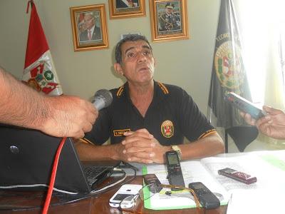Crnel PNP Neyser Tuesta Aranda, director de la ETSPNP de Amazonas