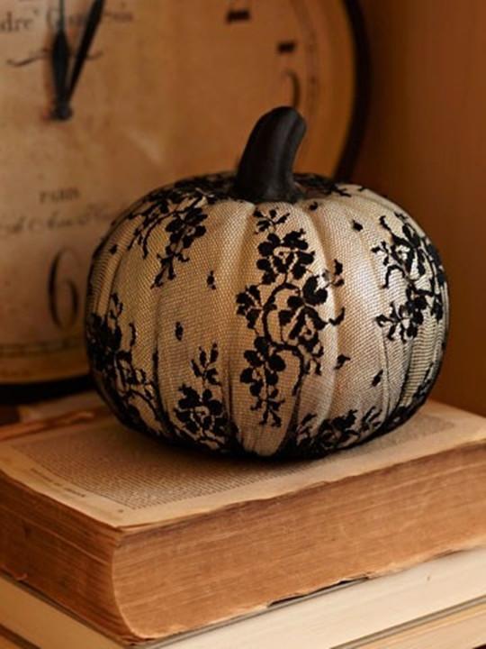 black lace punmpkin Orange halloween Wedding Ideas