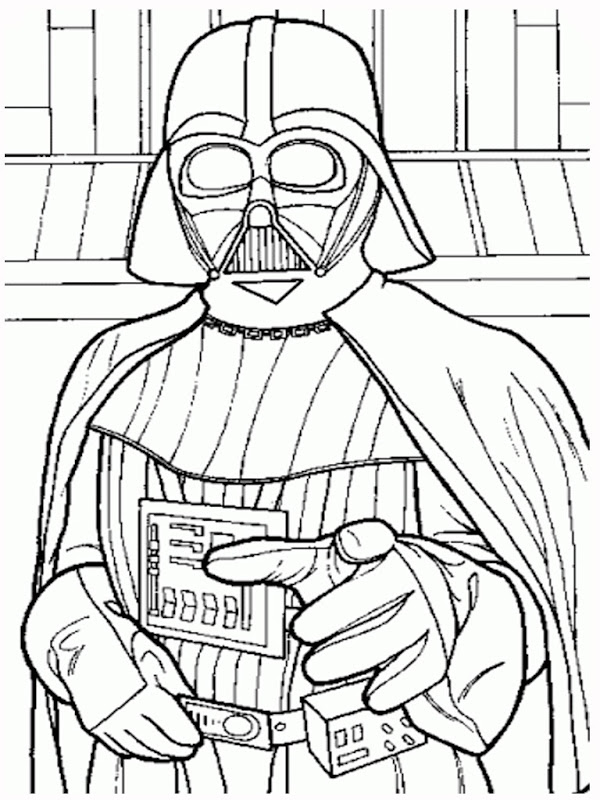 Star Wars coloring pages including the main characters of Star  title=