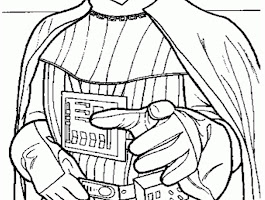 Lego Star Wars Darth Vader Coloring Pages