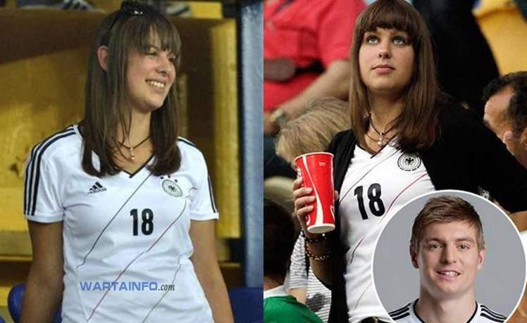 Photo Jessica Farber Wags kekasih Cantik seksi Toni Kroos Pemain Sepakbola Real Madrid