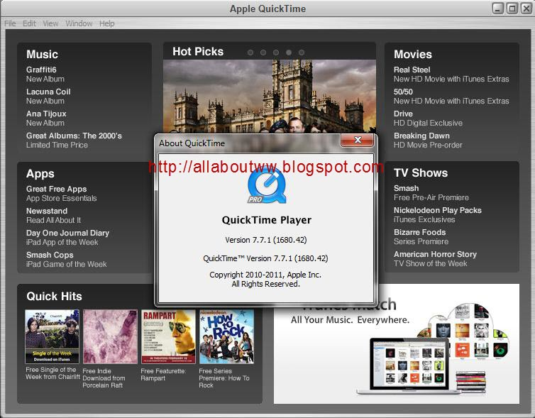 Download quicktime 7 pro