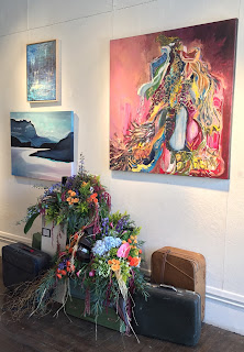 Baggage by Nicholas Burns interpreted by Jennifer Kelly of Stein Your Florist Co.