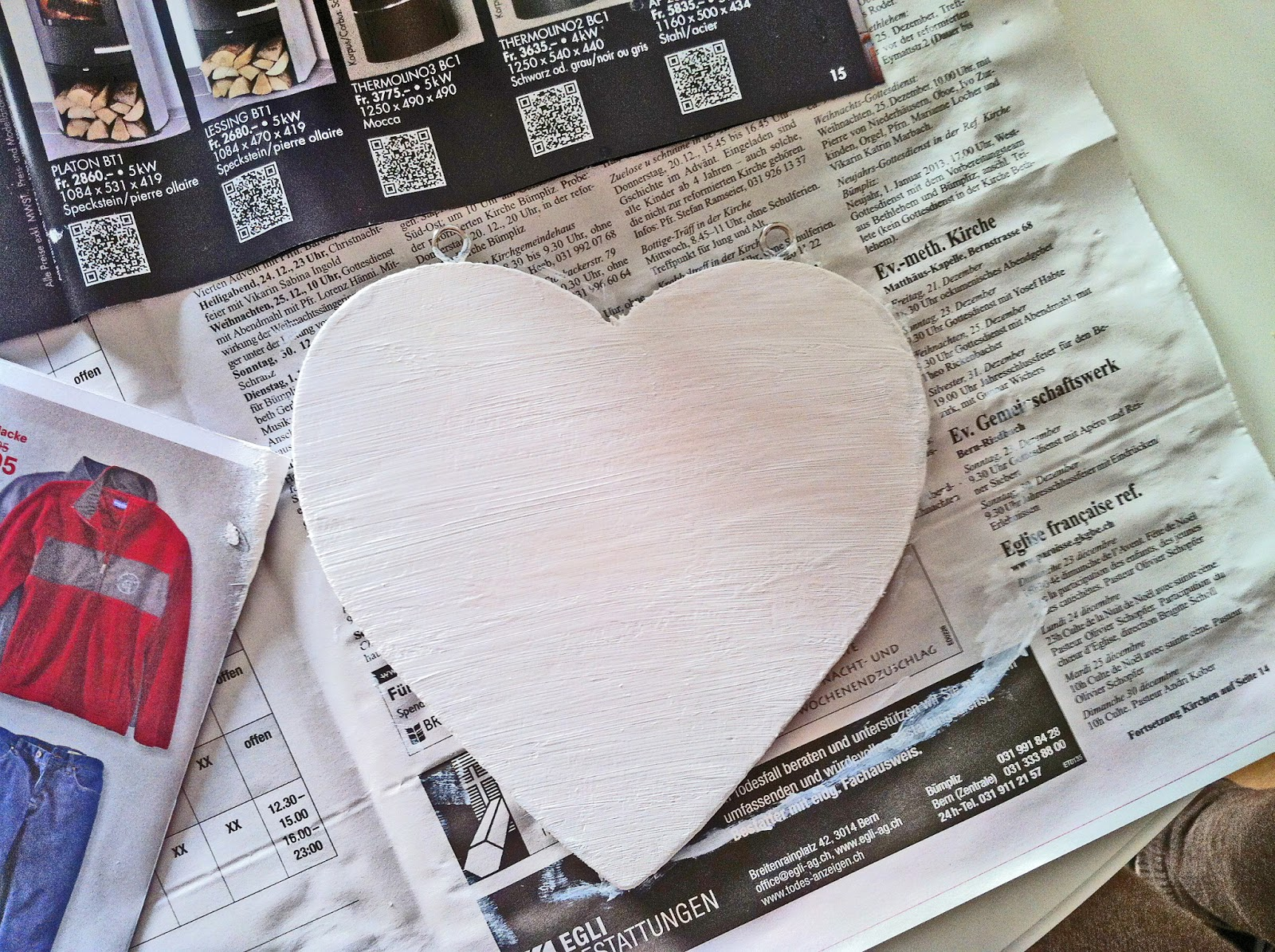 lovely self decorated wooden heart