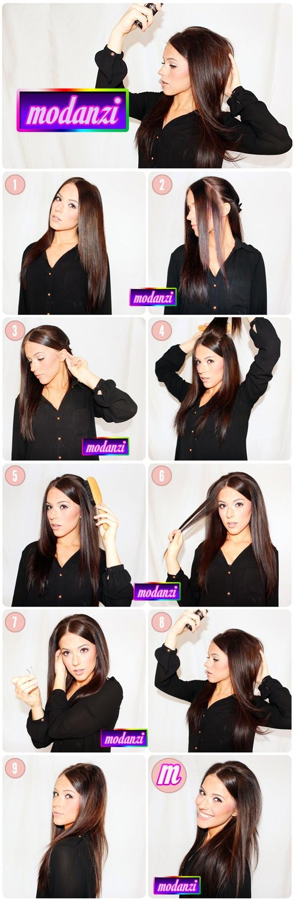 Bouffant Saç Modeli Nasıl Yapılır ? ( Resimli Anlatım )