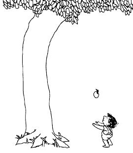 Read Like Bees: The Giving Tree The Giving Tree And The Tree Was Happy