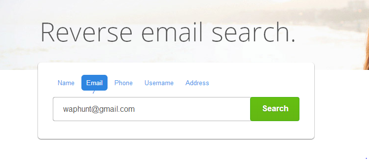Find the owner of the email address by using People Search