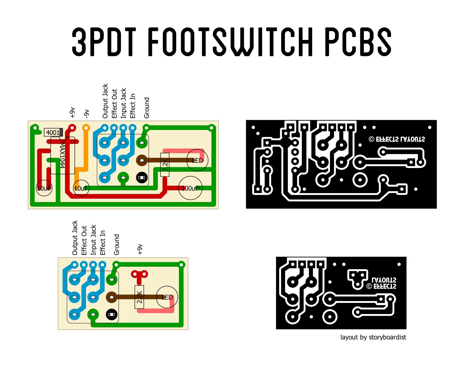 3pdt Wiring Pcb Diagram