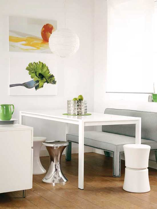 8 dicas para decorar sala de jantar pequena cores da casa for Decorate a small dining room