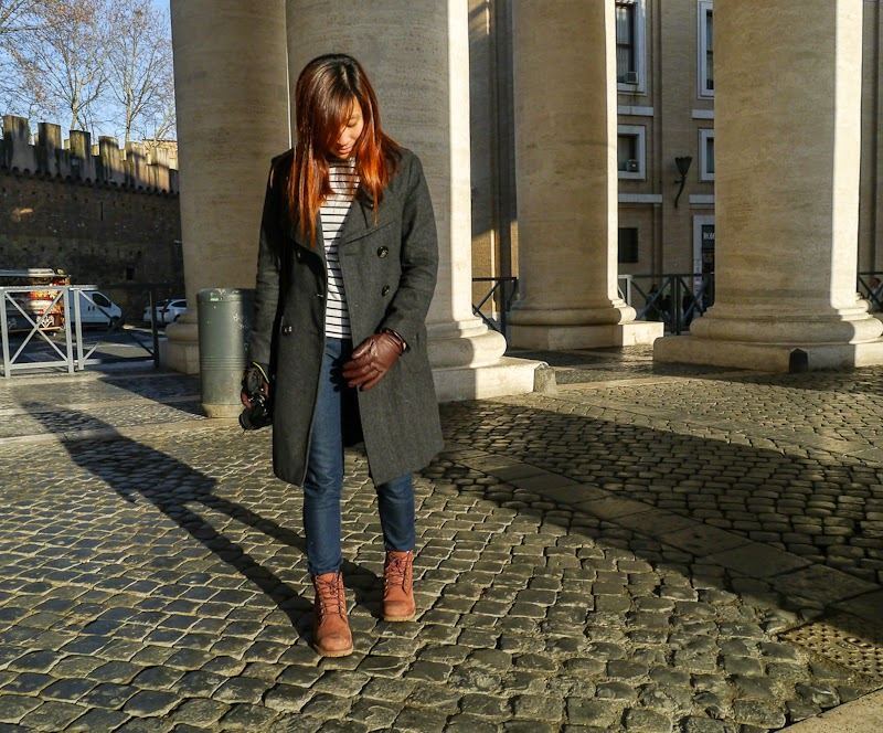 outfit whilst visiting the vatican