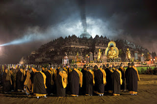 Perayaan Hari Raya Waisak di Borobudur