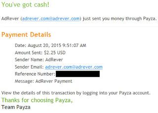 dowód wypłaty Adrever