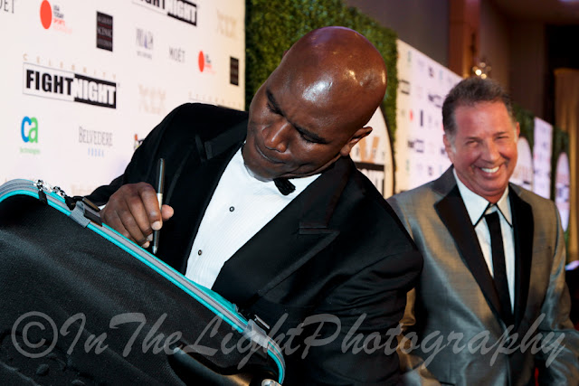 Celebrity Fight Night 2013 Red Carpet Evander Holyfield Yank Barry