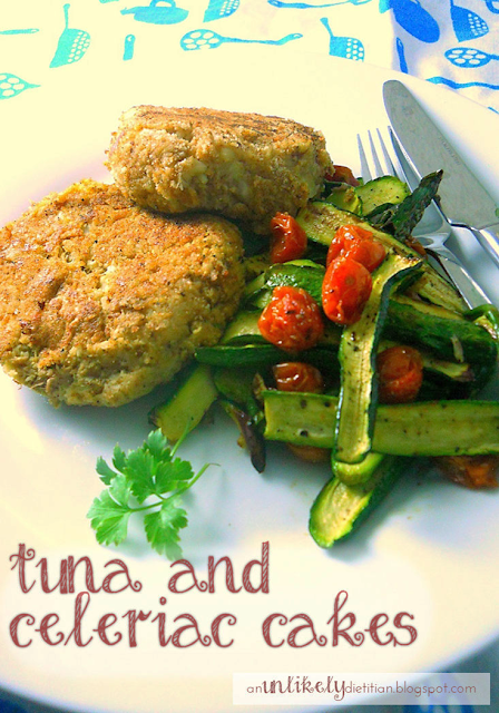 Tuna and celeriac cakes
