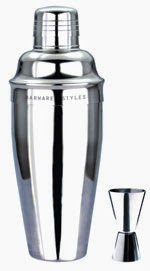 Barware Styles - 24 oz Stainless Steel Cocktail Shaker