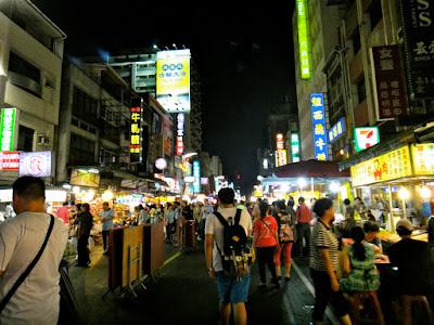 The Crowd at Liuhe Night Market Kaohsiung Taiwan