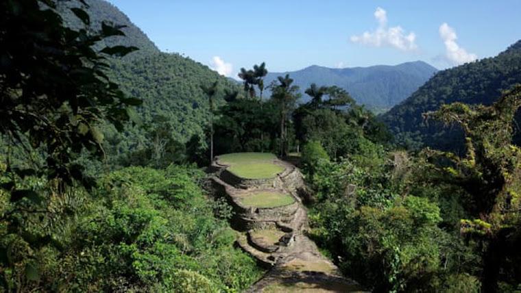 La Ciudad Perdida en La Sierra Nevada de Santa Marta, Colombia. Foto tomada de CNN Travel.