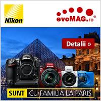 Sunt cu familia la Paris