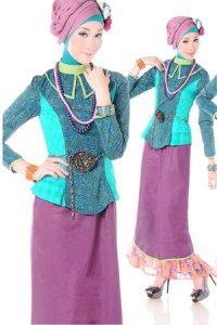 Esme Gamis E-010614 - Coklat Marun Hijau (Toko Jilbab dan Busana Muslimah Terbaru)