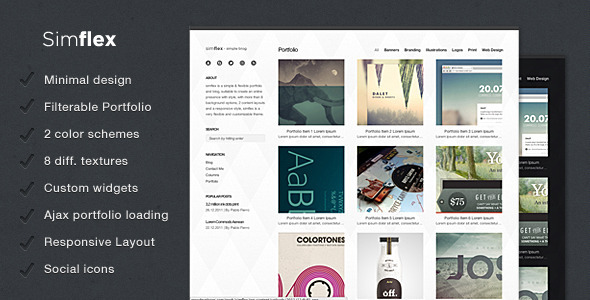 Simflex - Blogging WordPress Theme Free Download by ThemeForest.