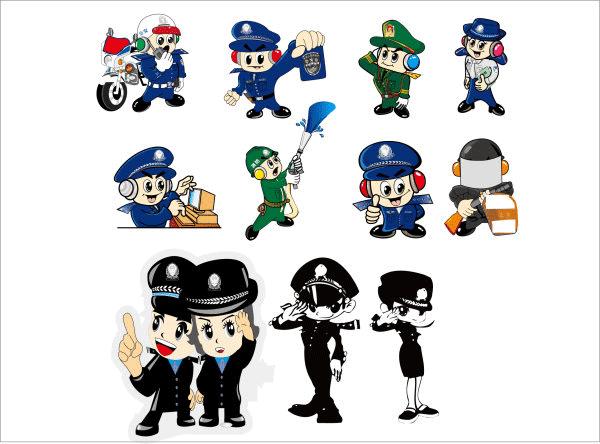 policias para recortar